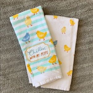 Chillin' With My Peeps Chicks Kitchen Towel Set